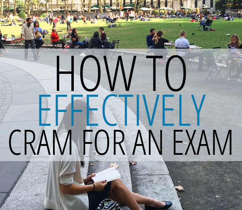 an analysis of how to cram for an exam