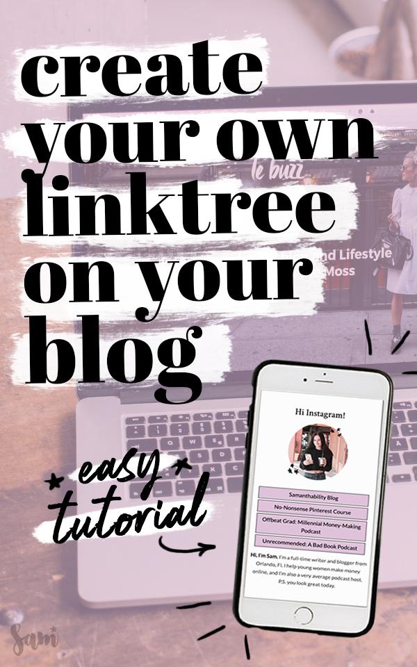 DIY Custom LinkTree for Your Blog Tutorial