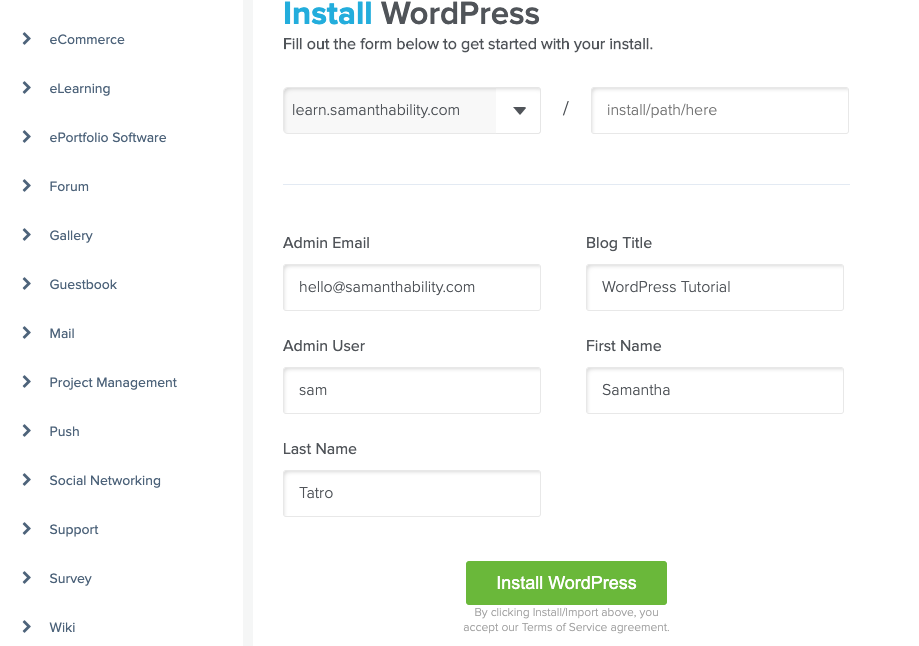 Install WordPress HostGator tutorial