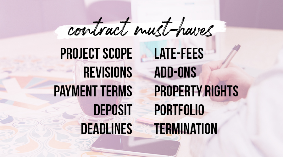 Freelancing contract must haves