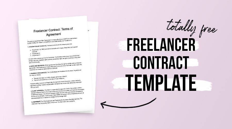 Freelancing contract template free and customizable
