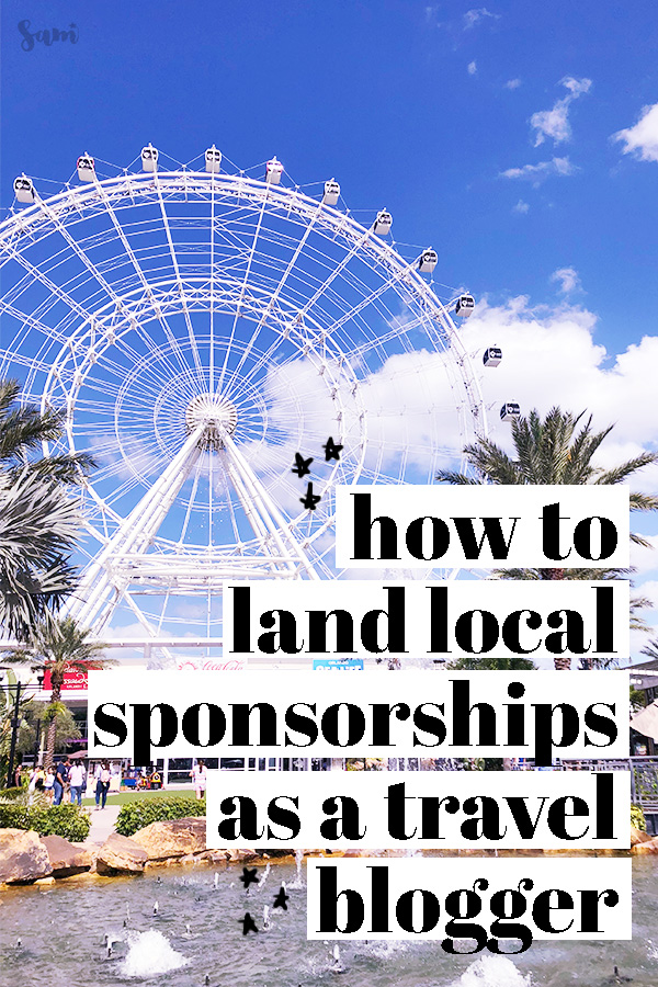 How to land local sponsorships as a travel blogger
