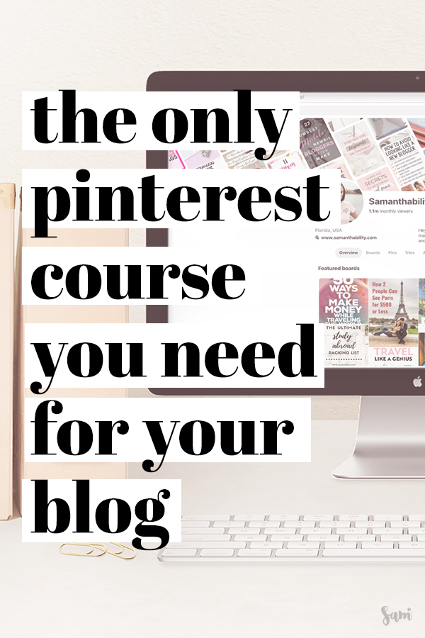 Affordable Pinterst course for bloggers and business owners alike!