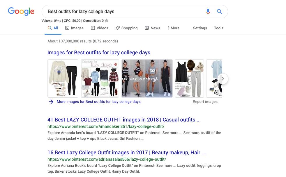 Google college blogger search
