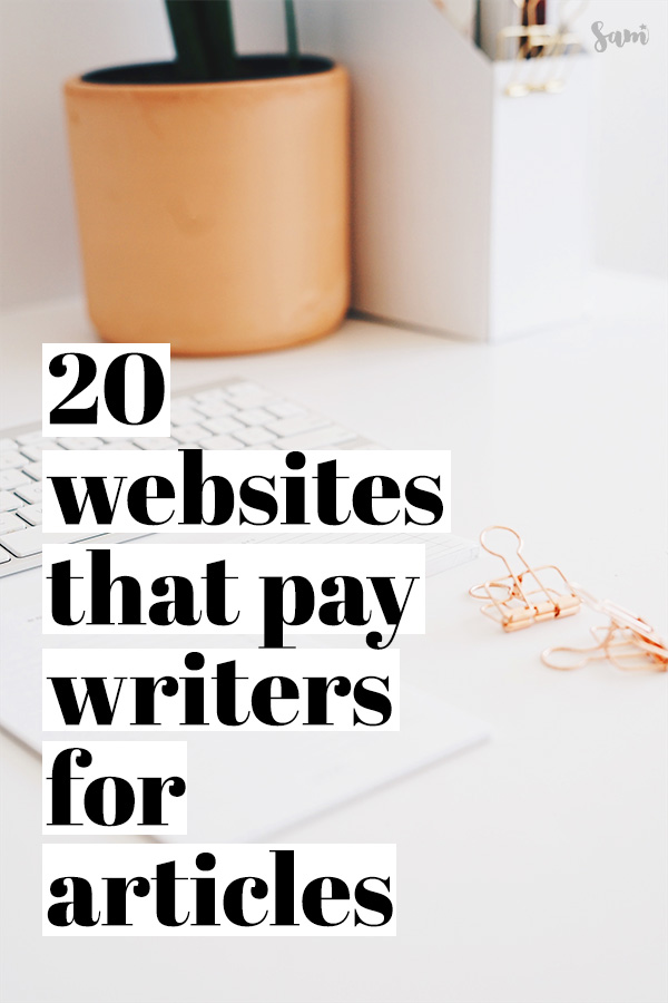 Websites that pay writers for articles