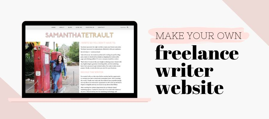 Make your own freelance writer website