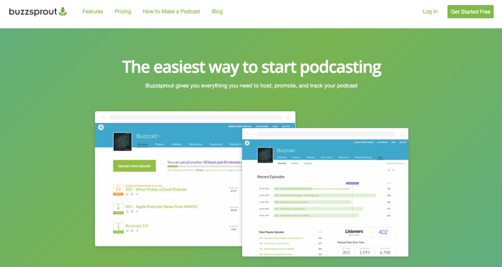 Why start a podcast for your blog BuzzSprout Hosting